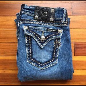 MISS ME JP5014-6 Bootcut Embell Denim Jeans LONG